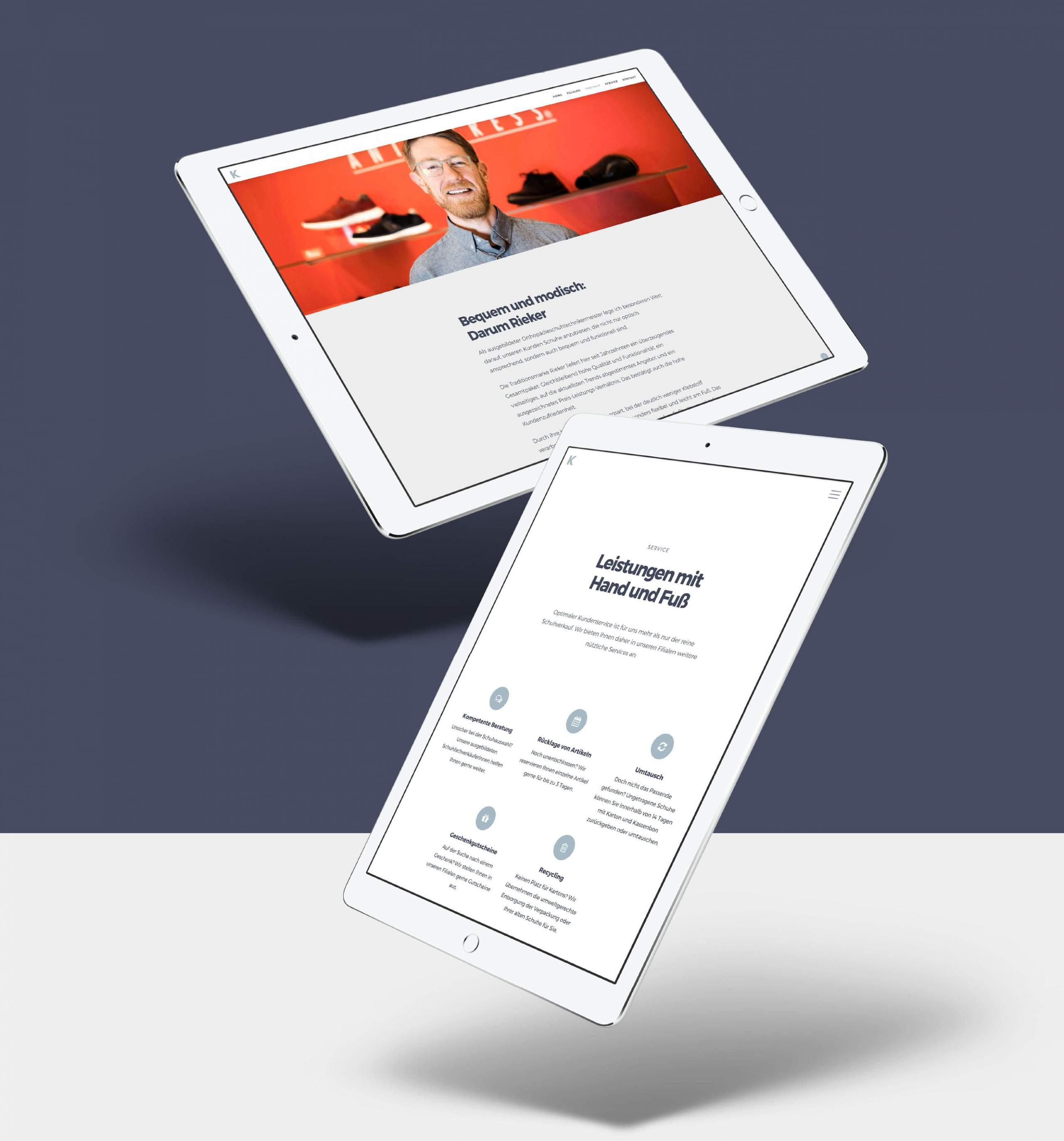 schuh koch website: standard