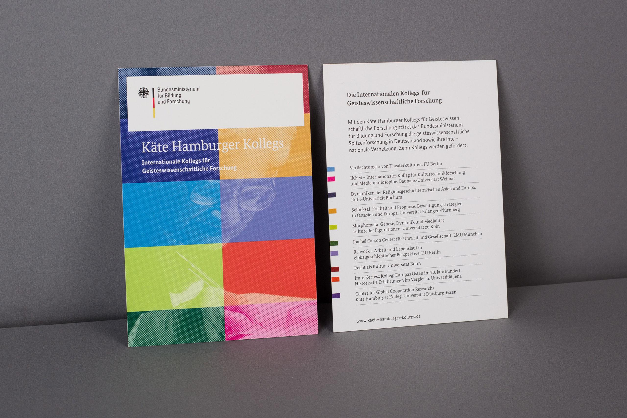 Käte Hamburger Kollegs - Deckkarte